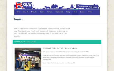 Screenshot of Press Page glw-feeds.co.uk - News | - captured July 11, 2017