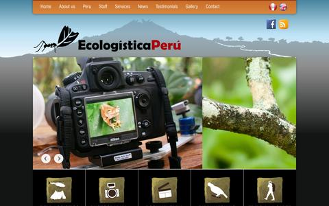 Screenshot of Services Page ecologisticaperu.com - Field logistics | Ecologistica Peru - captured March 5, 2016