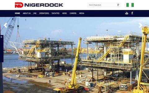Screenshot of Home Page nigerdock.com - Nigerdock - Home - captured Oct. 7, 2014