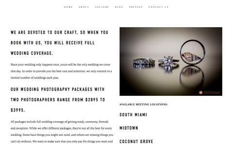 Screenshot of Pricing Page santymartinezphotographers.com - Prices - Photography by Santy Martinez - Miami Wedding Photographers — Wedding Photography by Santy Martinez - Miami Wedding PhotographersPhography by Santy Martinez - Miami Wedding Photographers - captured Jan. 19, 2018