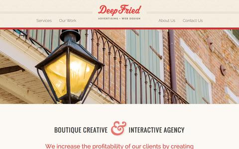 Screenshot of About Page deepfriedads.com - Boutique Creative & Interactive Agency in New Orleans, LA - captured Oct. 5, 2014