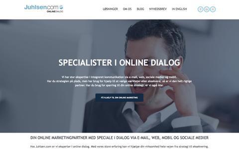 Screenshot of Home Page juhlsen.com - Online marketing - leadgenerering og dialogprogammer - captured Jan. 25, 2015