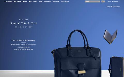 Screenshot of Home Page smythson.com - Smythson.com - captured Sept. 18, 2014