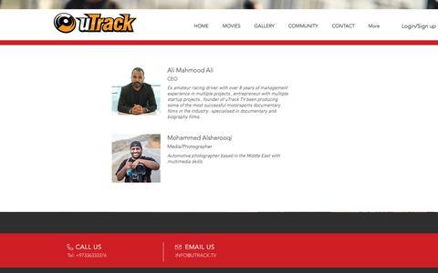 Screenshot of Team Page utrack.tv - uTrack TV   Team - captured Oct. 20, 2017