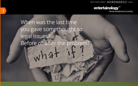 Screenshot of Terms Page entertainology.com captured Sept. 30, 2014