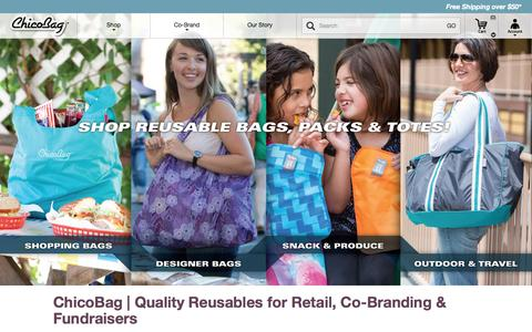 Screenshot of Home Page chicobag.com - ChicoBag | Compact Reusable bags, packs, and totes - captured Sept. 22, 2016
