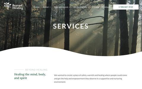 Screenshot of Services Page beyondhealingcounseling.com - Beyondhealingcounseling | Top Counseling | Beyond Healing - captured Oct. 5, 2018