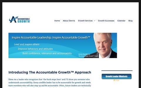 Screenshot of Home Page accountablegrowth.com - Accountable Growth™ | Accountable Growth, Inc. - captured Nov. 20, 2016