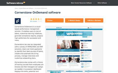 Cornerstone OnDemand Software - 2018 Reviews & Pricing