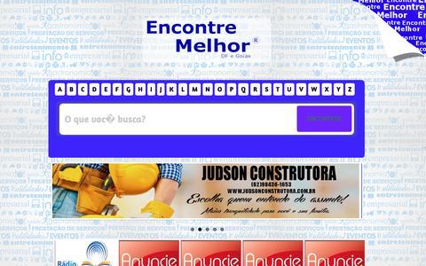 Screenshot of Home Page encontremelhor.com.br - Encontre Melhor - captured Dec. 4, 2016