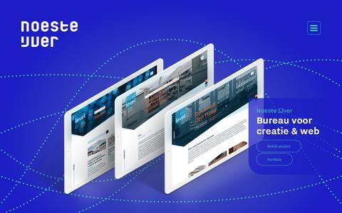 Screenshot of Home Page noesteijver.nl - Home - Noeste IJver - Communicatiebureau voor creatie & web - Den Bosch - captured Oct. 19, 2018