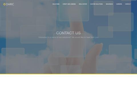 Screenshot of Contact Page daric.com - Home | Daric - captured Feb. 21, 2016