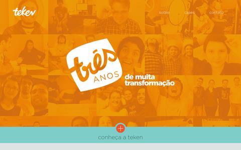 Screenshot of Home Page teken.com.br - TEKEN - Comunicação que transforma - captured Oct. 9, 2014