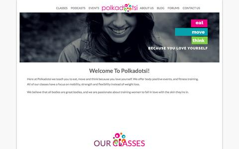 Screenshot of Home Page polkadotsi.com - Polkadotsi.com - Polkadotsi: Body Love - captured Nov. 8, 2016