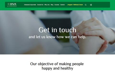 Screenshot of Contact Page jiva.com - Contact Us - captured Feb. 10, 2020