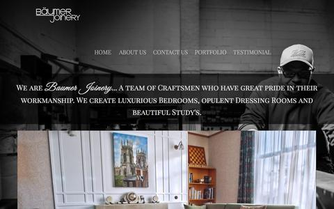 Screenshot of Home Page baumerjoinery.com - Baumer Joinery Limited • Bespoke Furniture - captured Jan. 27, 2017