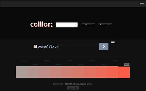 Screenshot of Home Page colllor.com - Color Palette Generator - Colllor - captured Sept. 19, 2014
