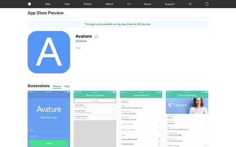 Avature on the AppStore