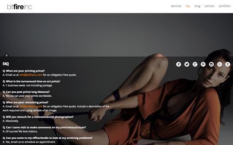 Screenshot of FAQ Page bitfireinc.com - FAQ - Bitfire Inc. - captured Sept. 30, 2014