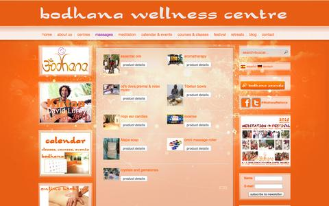 Screenshot of Products Page bodhana.com - bodhana wellness centre - bodhana wellness centres - captured Sept. 30, 2014
