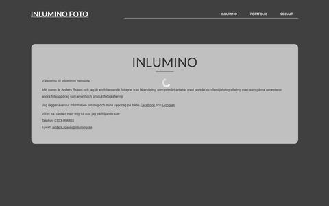 Screenshot of Home Page inlumino.se - Inlumino Foto | Porträttfotograf från Norrköping - captured Sept. 30, 2014
