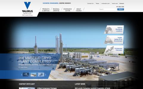 Screenshot of Home Page valerus.com - Valerus - captured Sept. 30, 2014
