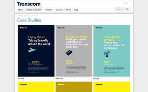 Screenshot of Case Studies Page transcom.com - Case Studies - Transcom - captured Nov. 2, 2014