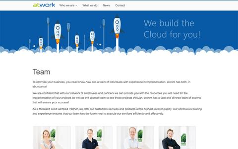 Screenshot of Team Page atwork-it.com - Team - atwork information technology gmbh - captured Jan. 29, 2017