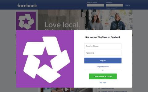 Screenshot of Facebook Page facebook.com - FiveStars - Home | Facebook - captured Dec. 5, 2017