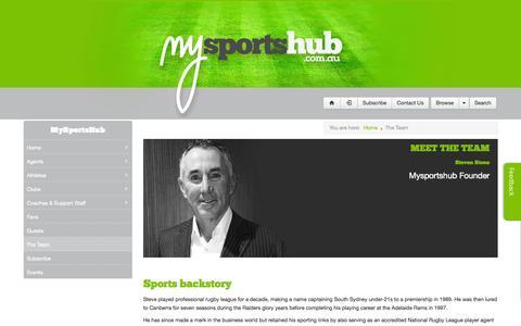 Screenshot of Team Page mysportshub.com.au - The Team - captured Sept. 30, 2014