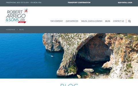 Screenshot of Blog robertarrigo.com - Malta Travel Specialists   Blog - captured Oct. 19, 2018