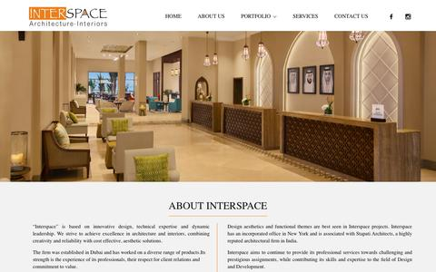 Screenshot of About Page interspace.ae - About Us - Interspace - captured May 20, 2016