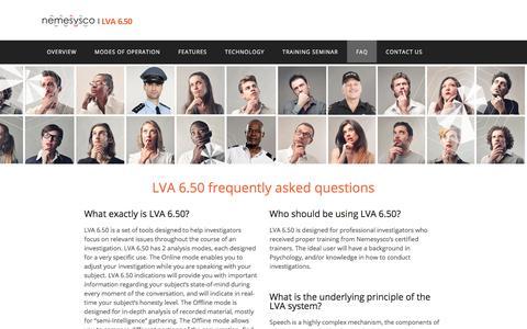 Screenshot of FAQ Page lva650.com - FAQ – LVA-i 6.50 - captured Oct. 15, 2017