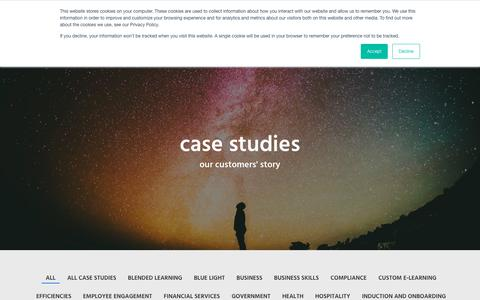 Screenshot of Case Studies Page learningpool.com - case studies | Learning Pool | e-learning content and learning management systems - captured Nov. 11, 2018