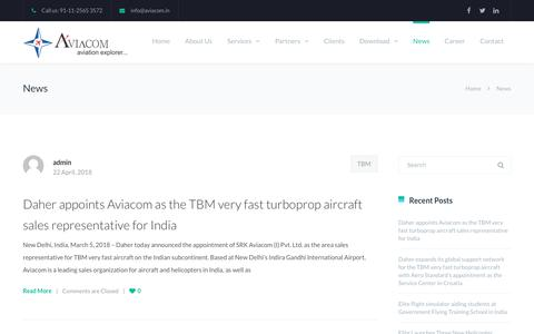 Screenshot of Press Page aviacom.in - News | Aviacom - captured Oct. 1, 2018