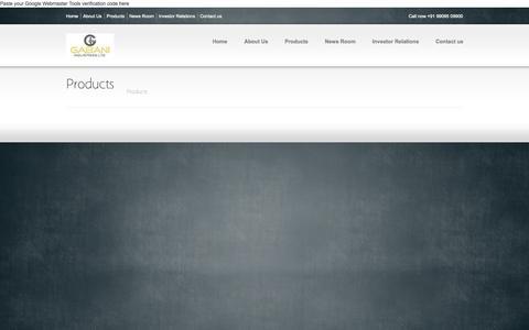 Screenshot of Products Page gabanigroup.com - Products   GABANI GROUP - captured Oct. 1, 2014