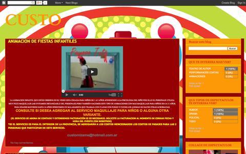 Screenshot of Home Page custoespectaculos.blogspot.com - CUSTO - captured Jan. 23, 2015