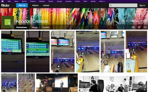 Screenshot of Flickr Page flickr.com - Flickr: Koodoo Creative's Photostream - captured Oct. 23, 2014