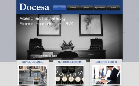 Screenshot of Home Page docesa.es - Docesa Asesores Fiscales y Financieros, Madrid España - captured Oct. 5, 2014