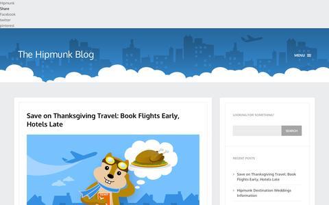 Screenshot of Blog hipmunk.com - The Hipmunk Blog |The Hipmunk Blog - captured Sept. 16, 2014