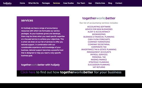 Screenshot of Services Page hulljady.co.uk - Services - Hull Jady - captured Oct. 27, 2014