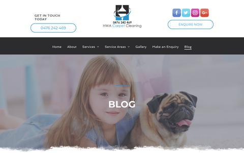 Screenshot of Blog hwacarpetcleaning.com - HWA Carrpet Cleaning    Blog - captured Nov. 3, 2018