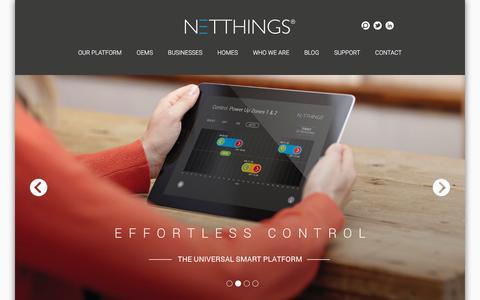 Screenshot of Home Page netthings.co.uk - Homepage - NetThings - captured Jan. 12, 2016