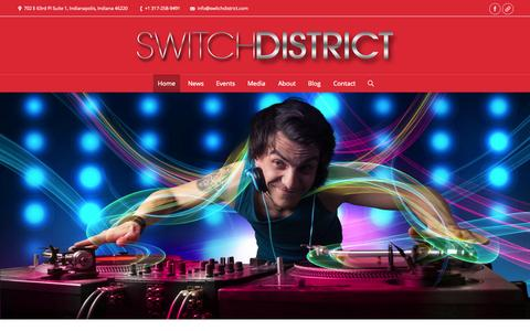 Screenshot of Home Page switchdistrict.com - Switch District - captured Oct. 9, 2014