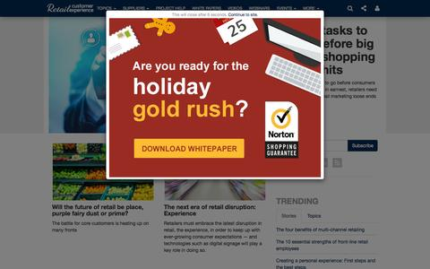 Screenshot of Home Page retailcustomerexperience.com - Retail Customer Experience                       | Retail Customer Experience - captured Oct. 1, 2015