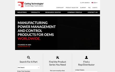 Screenshot of Home Page carlingtech.com - carlingtech.com - captured March 21, 2019