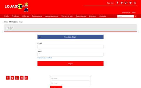 Screenshot of Login Page lojascb.com.br - Identificação - lojascb.com.br - captured Oct. 23, 2017