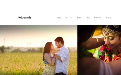 Screenshot of Home Page fotosaints.com - fotosaints - captured Aug. 3, 2015