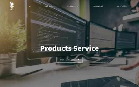 Screenshot of Products Page srsfc.com - Products & Service | SRS Fintech Commerce Ltd. - captured Nov. 1, 2018