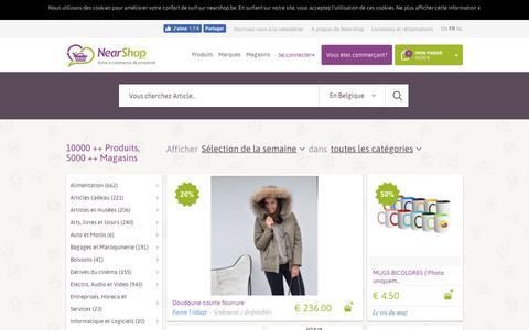 Screenshot of Home Page nearshop.be - Nearshop, l'e-commerce de proximité. Découvrez les magasins! - captured Nov. 11, 2017